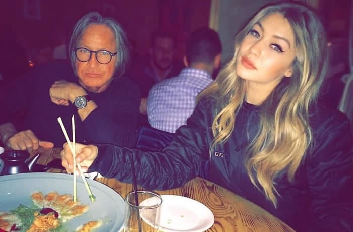 Gigi Hadid eating Japanese Sushi