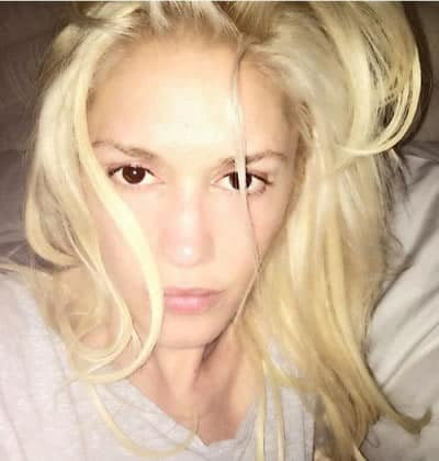 Gwen Stefani getting out of bed look