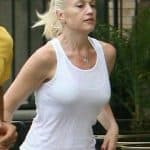 Gwen Stefani going for a run