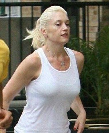 Gwen Stefani going for a run