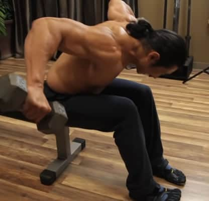 Mike Chang Bent Over Laterals - Step 2