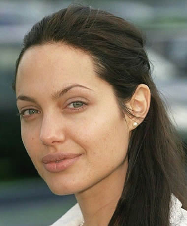 Angelina Jolie has the perfect face