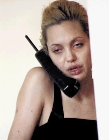 Angelina Jolie on the phone call