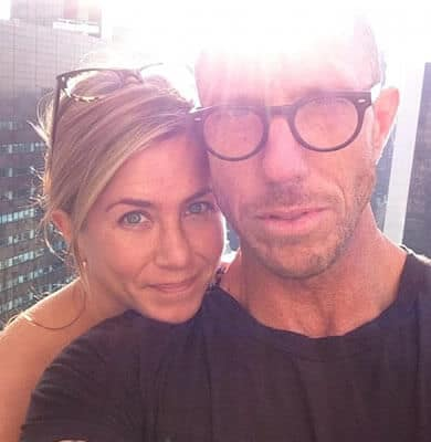 Jennifer Aniston with hairdresser Chris McMillan