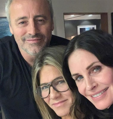 Jennifer Aniston with long time friends