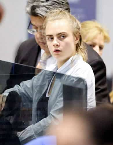 Cara Delevingne inside the airport