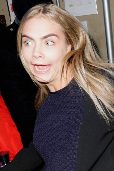 Did Cara Delevingne see a ghost?