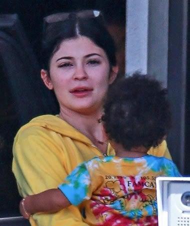 Kylie Jenner Mommy Hug