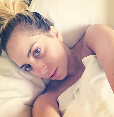 This Lady Gaga wake up selfie is too perfect to be true