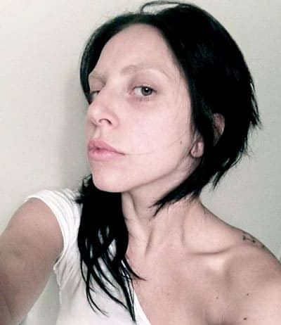 Lady Gaga Side Face Selfie