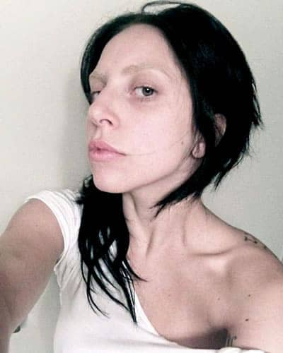 Lady Gaga Side Face Selfie