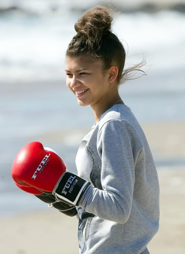 Zendaya doing boxing workout