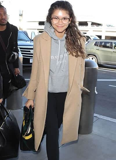 Zendaya in casual street fashion