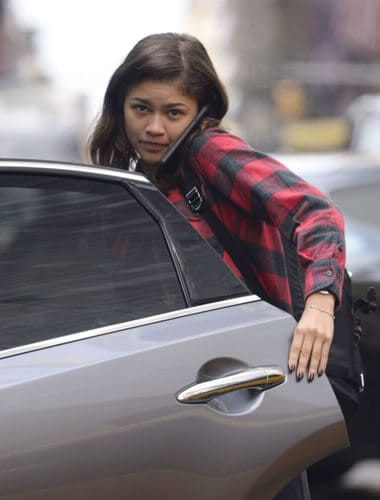 Zendaya on a handsfree mobile