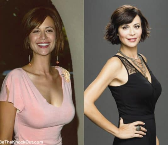 Did Catherine Bell get breast implants?
