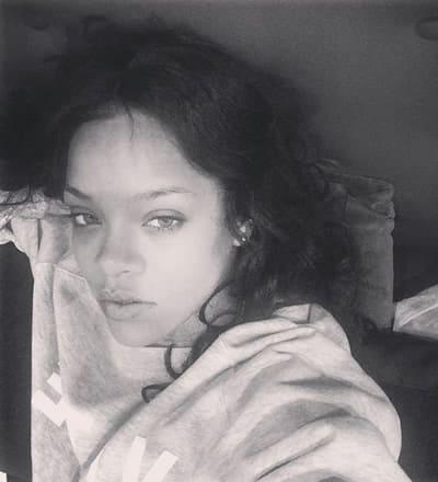 Rihanna black and white beauty