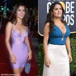 Does Salma Hayek have breast implants?""