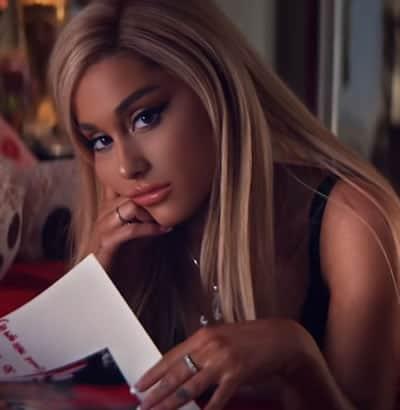 Ariana Grande in her music video of - Thank u, next