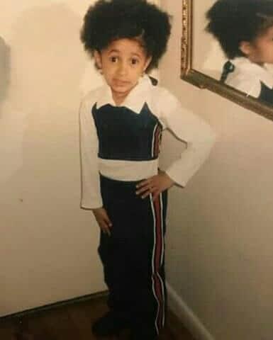 Cardi B had the cutest afro hair
