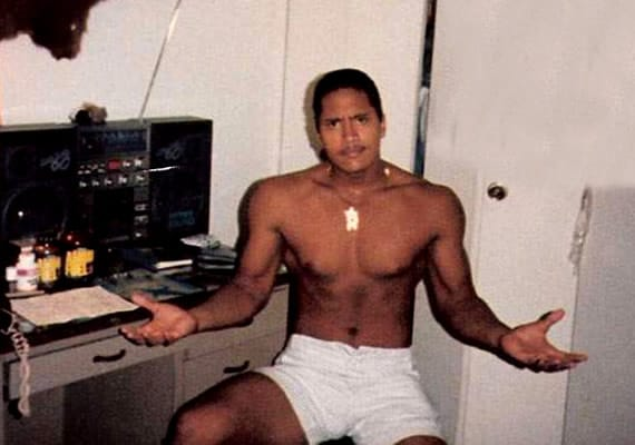 Dwayne Johnson at the notorious age of 15