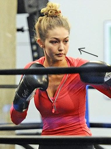 Gigi Hadid doing more boxing