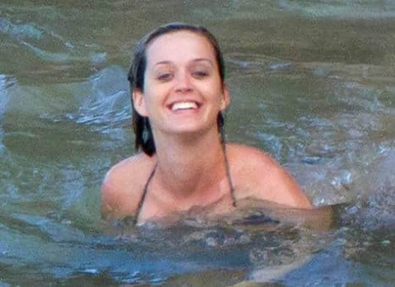 Katy Perry having a swim