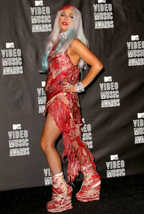 This Lady Gaga meat dress almost broke the internet
