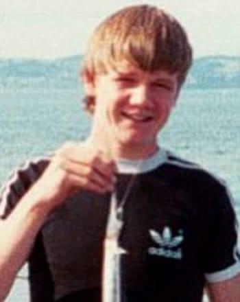 Young Gordon Ramsay during his fishing trip