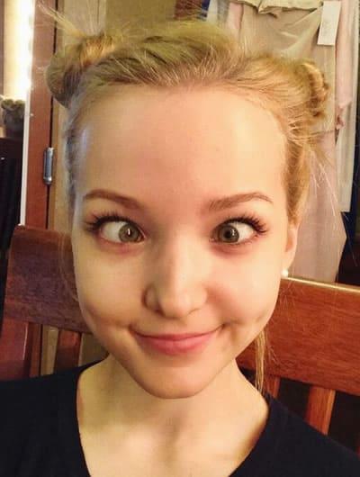 Dove Cameron crossed eyes