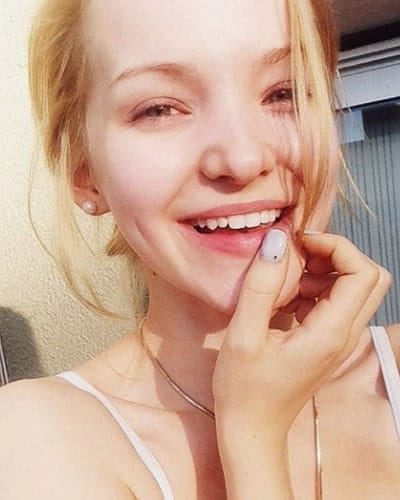 Dove Cameron with nothing on lips