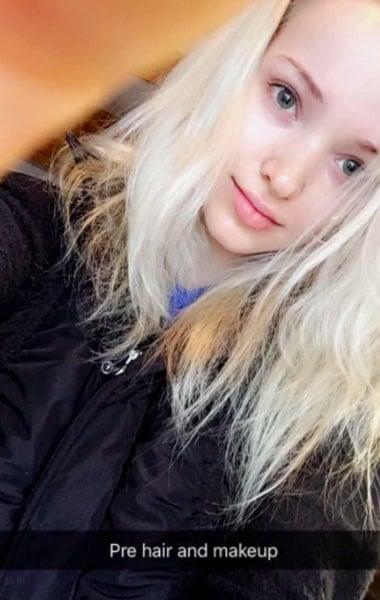 Dove Cameron pre hair and makeup