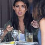 Madison Beer eating little pasta for lunch