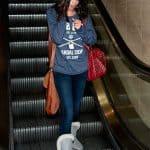 Selena Gomez escalator singing practice