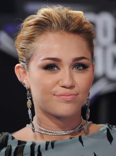 Miley Cyrus at the 2011 MTV VMAS