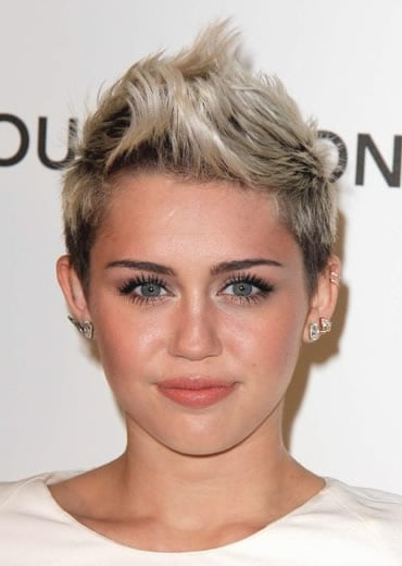 Miley Cyrus with faux hawk haircut in 2013