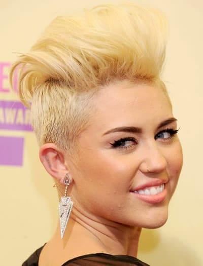 Miley Cyrus undercut pixie hair cut