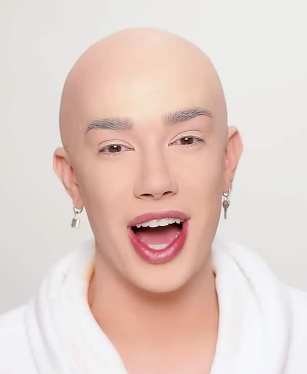 James Charles bald head makeup