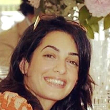 Amal Clooney attending a wedding