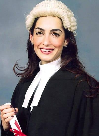 Amal Clooney graduating from law school