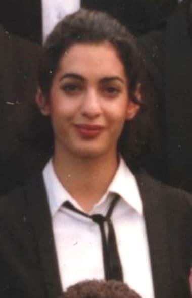 Amal Clooney in college uniform