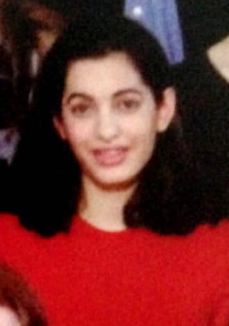 Amal Clooney looked like Kim Kardashian during her school years