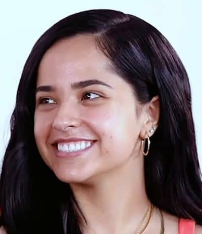 Becky G looks cute with acne scars