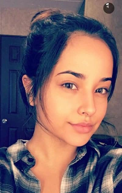 Becky G spare time selfie