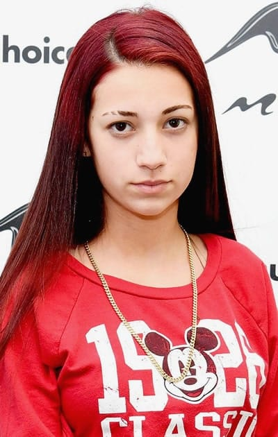 Bhad Bhabie a lady in red