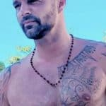 Ricky Martin chest tattoo