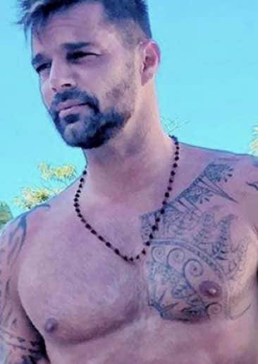 Ricky Martin chest tattoo