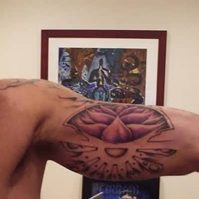 Ricky Martin lotus flower tattoo