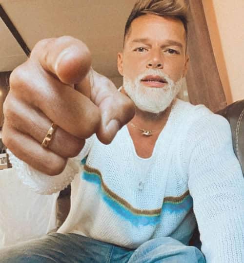 Ricky Martin's white beard looks kind of stylish