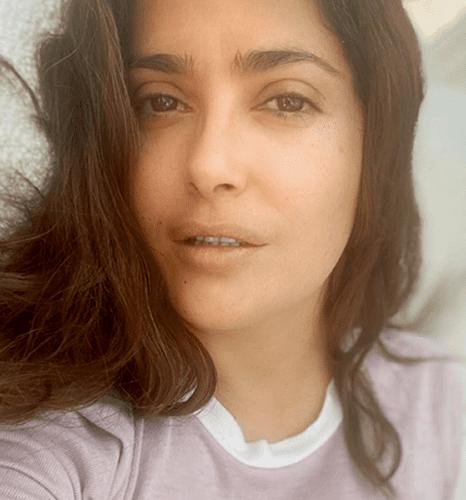 Salma Hayek in the beautiful morning