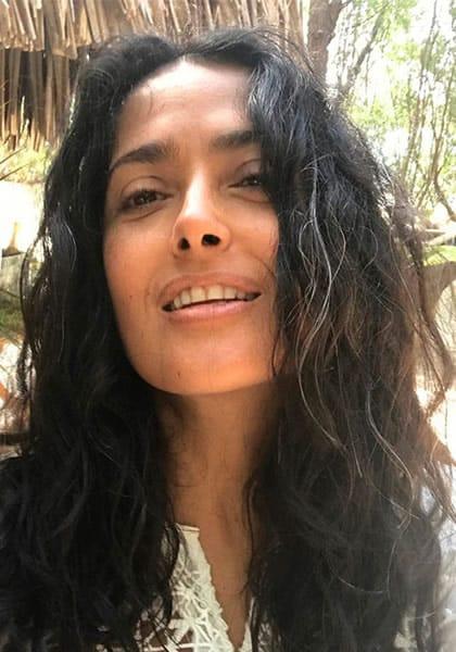 Salma Hayek bonding with nature